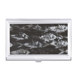 Fossil business card holders cases zazzle fossil white fish on black background business card holder colourmoves