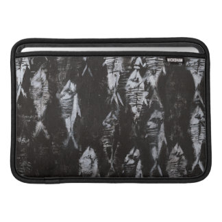Fossil White Fish on Black Background Sleeve For MacBook Air
