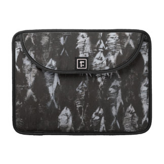 Fossil White Fish on Black Background Sleeve For MacBook Pro