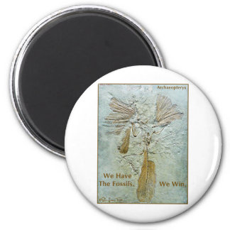 Fossil Win Archaeopteryx 2 Inch Round Magnet