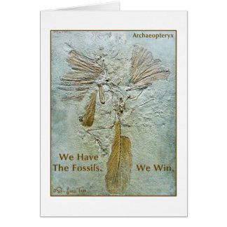 Fossil Win Archaeopteryx Greeting Card