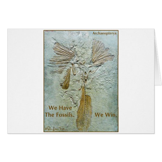 Fossil Win Archaeopteryx Card