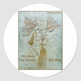 Fossil Win Archaeopteryx Classic Round Sticker