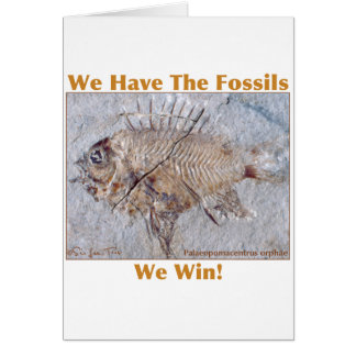 Fossil Win Greeting Card