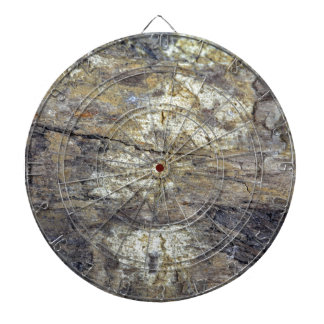 Fossil Wood Dart Board