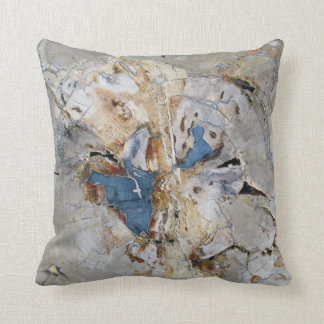 Fossil Wood Throw Pillow