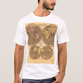 Fossil World Map 10_Maps of Antiquity T-Shirt