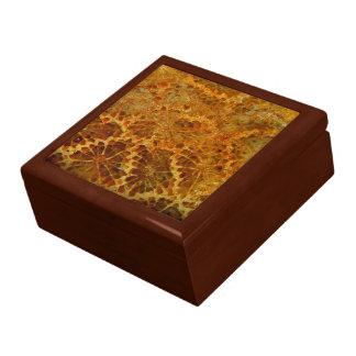 Fossilized coral natural jasper gemstone jewelry box