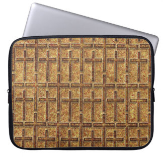 FOSSILIZED CROSSES GOLDEN COMPUTER SLEEVE