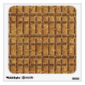 FOSSILIZED CROSSES GOLDEN WALL STICKER