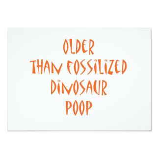 "Fossilized Dinosaur Poop 5"" X 7"" Invitation Card"