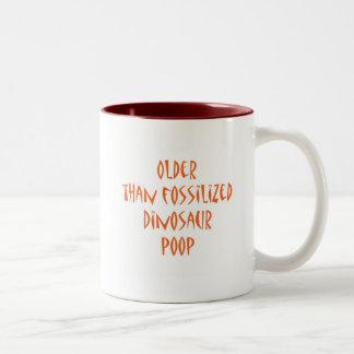 Fossilized Dinosaur Poop Two-Tone Coffee Mug