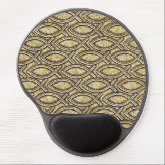 FOSSILIZED JESUS FISH GEL MOUSE PAD