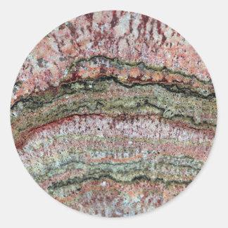 Fossilized Stromatolites Classic Round Sticker