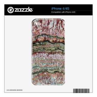Fossilized Stromatolites iPhone 4 Decals