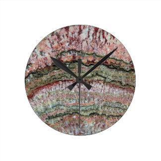 Fossilized Stromatolites Round Clock