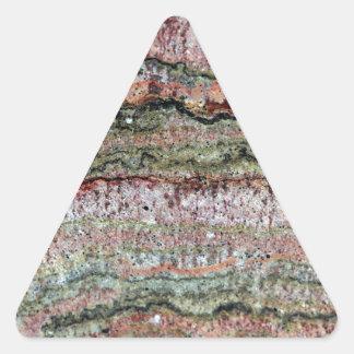 Fossilized Stromatolites Triangle Sticker