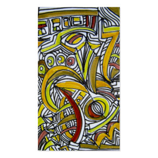 Fossils - Abstract Art Business Card