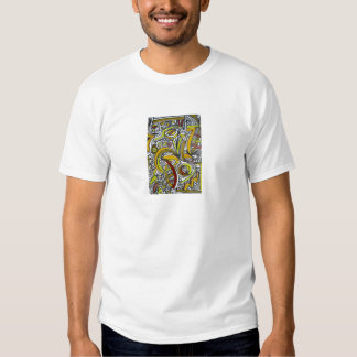 Fossils-Abstract Art Ink Drawing In Earth Colors Shirt