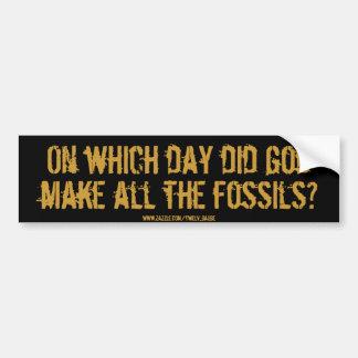 fossils? car bumper sticker