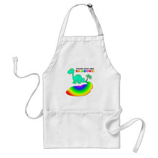 Fossils make slick rainbows adult apron
