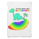 Fossils make slick rainbows cover for the iPad mini
