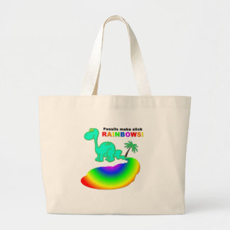Fossils make slick rainbows large tote bag