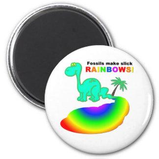 Fossils make slick rainbows magnet