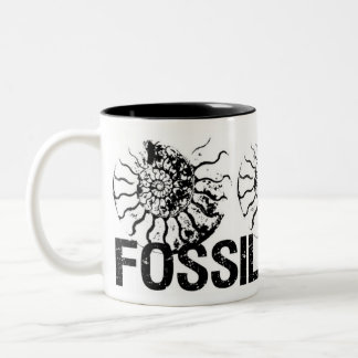 FOSSILS ROCK Ammonite Two-Tone Coffee Mug