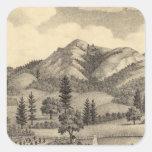 Fossville Res de Clark Foss, valle de los Pegatina Cuadrada