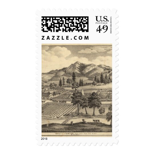 Fossville Res of Clark Foss, Knights Valley Postage