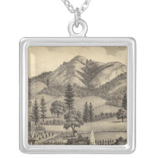 Fossville Res of Clark Foss, Knights Valley Square Pendant Necklace