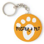 Foster a Pet / Pawprint Keychains
