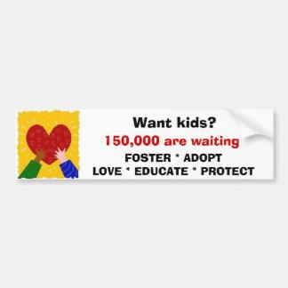 Foster Adopt Love Sticker Car Bumper Sticker