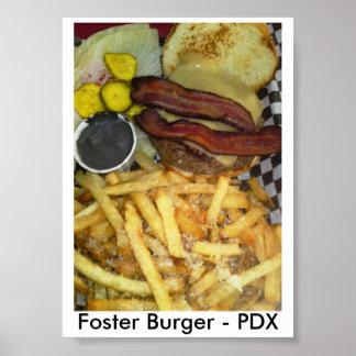 Foster Burger Portland Poster