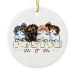 Foster Cat Mom Ceramic Ornament