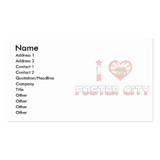 Foster City, CA Business Card Template