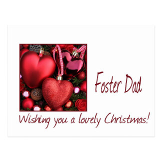 Foster dad Merry Christmas card Postcard