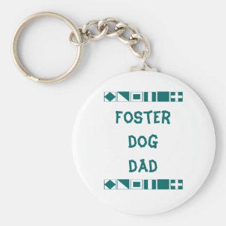 Foster dog dad keychain