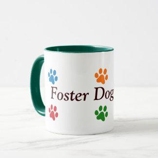 Foster Dog Mom-Colorful Paw Prints Mug