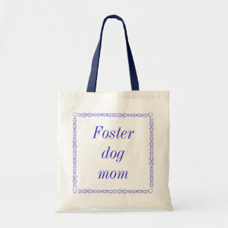 Foster dog mom tote canvas bags