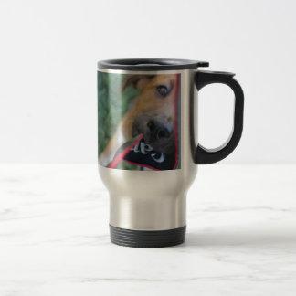 Foster Dog Tug of War Travel Mug