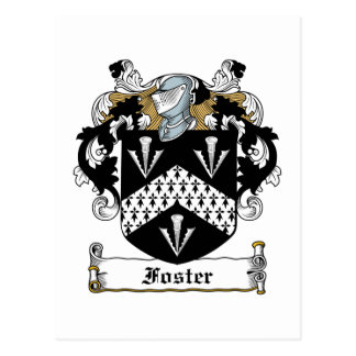 Foster Family Crest Postcard