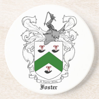 Foster Family Crest Sandstone Coaster