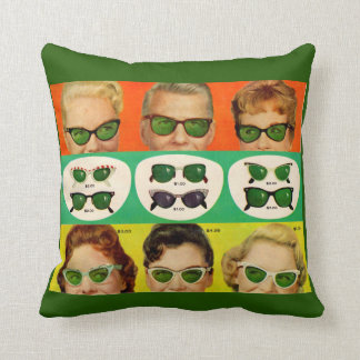 Foster Grant ad 1950s Throw Pillow