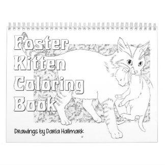 Foster Kitten Coloring Calendar