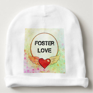 Foster Love Watercolor Heart Baby Beanie
