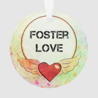 Foster Love Watercolor Heart Ornament