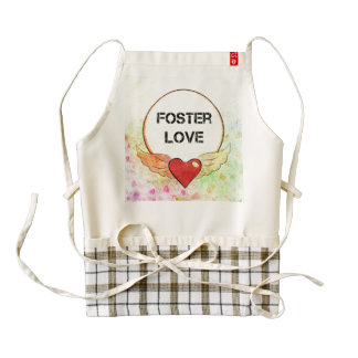 Foster Love Watercolor Heart Zazzle HEART Apron