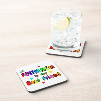 Foster Mom Best Friend Beverage Coasters